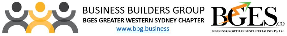 BBG - Business Builders Group Greater Western Sydney and BGES - Business Growth and Exit Specialists
